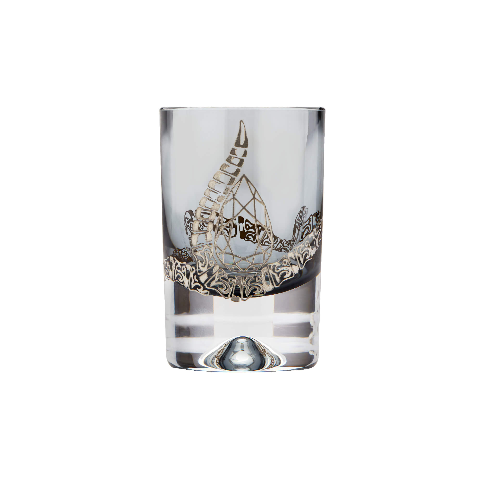 Smoke Shot Glass with Engraved Rattlesnake | Stephen Webster