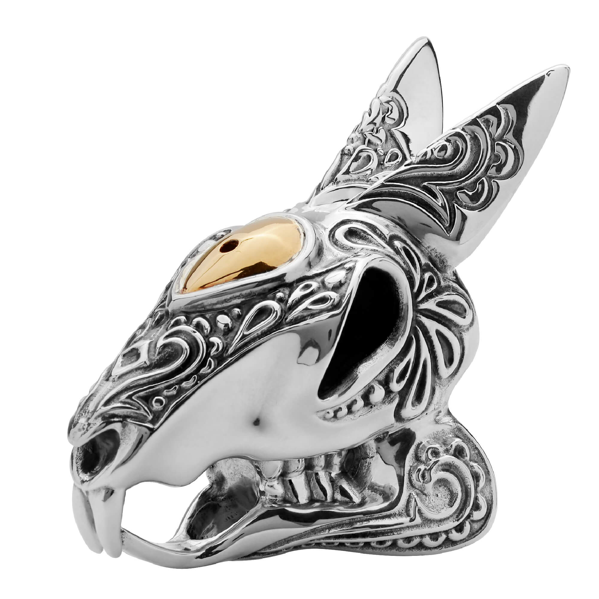 Silver Rabbit Skull Salt Shaker | Stephen Webster
