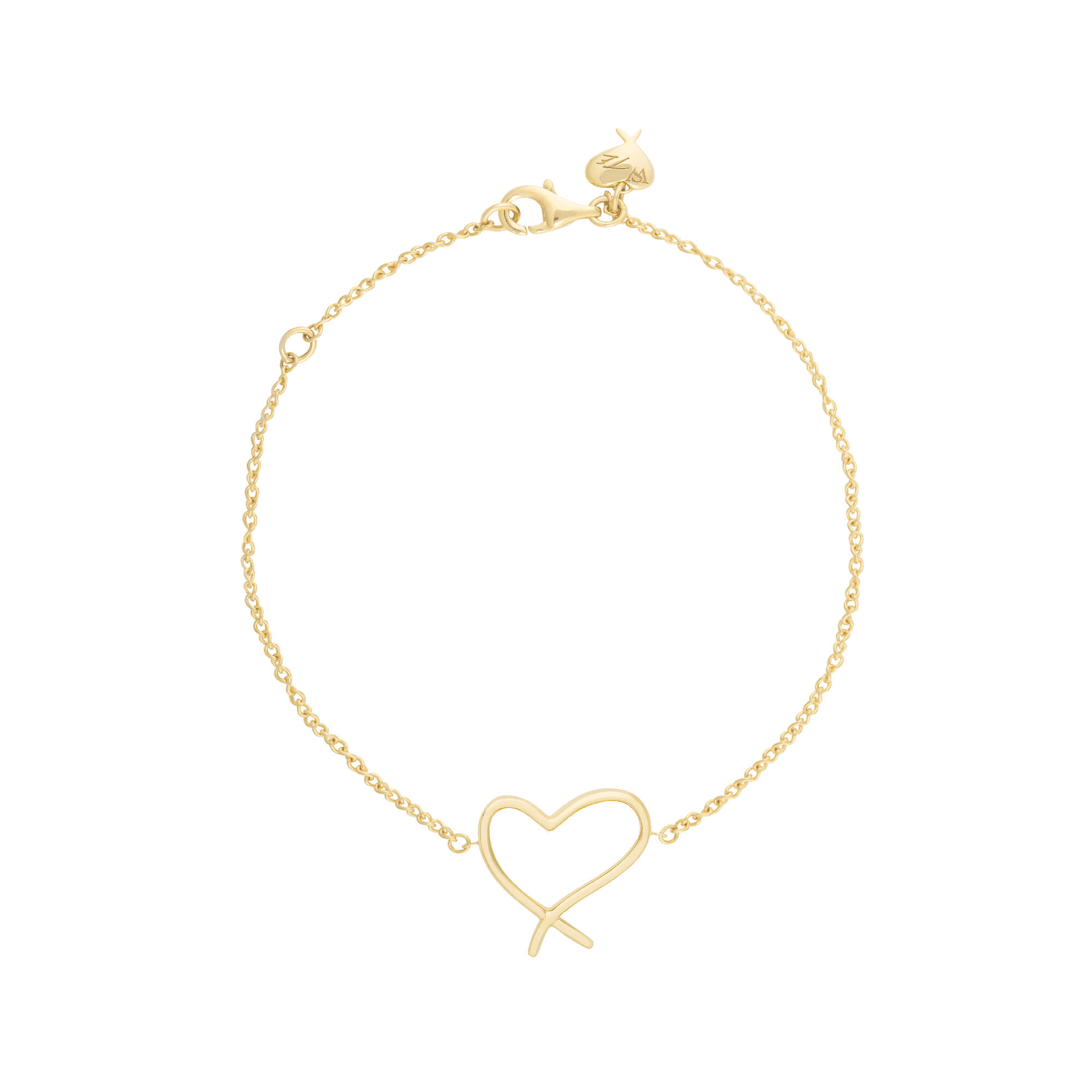 Neon Yellow Gold Heart Bracelet | I Promise To Love You