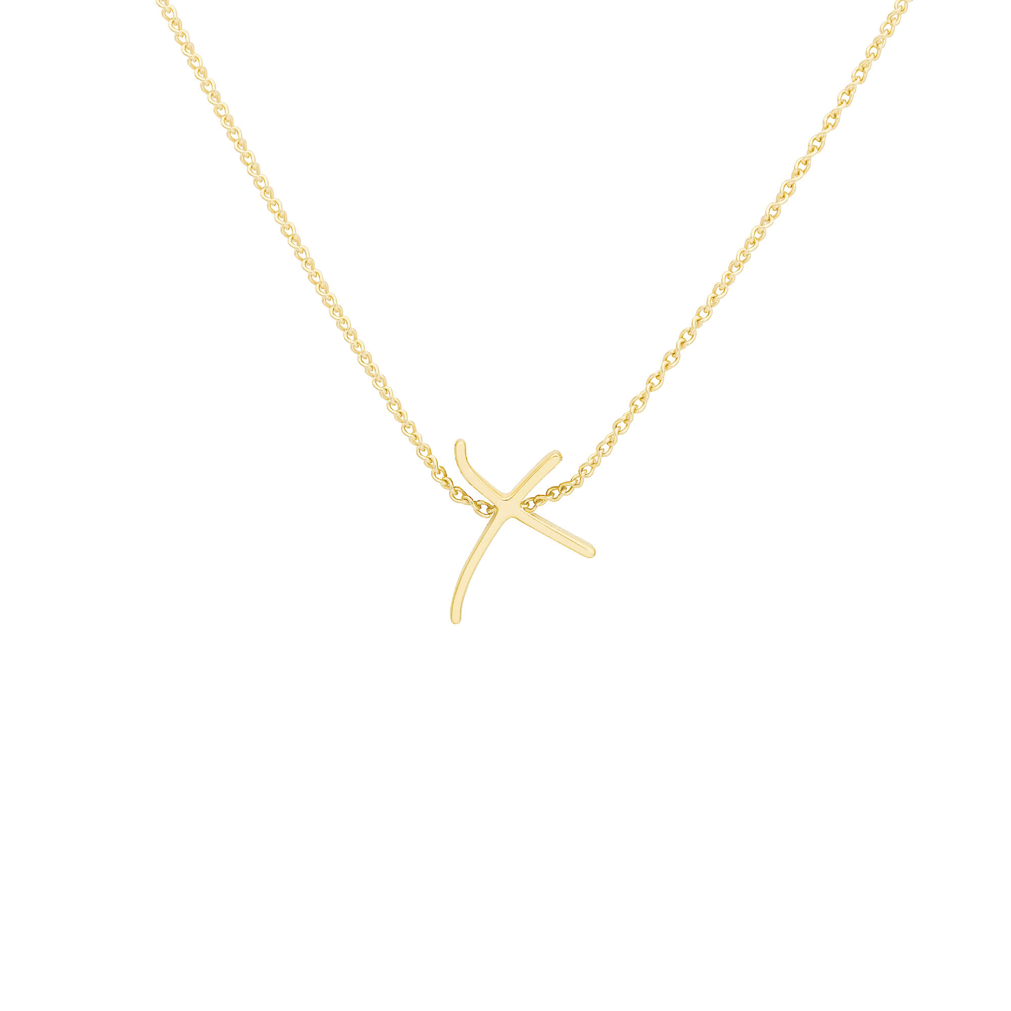 Neon Yellow Gold Emin Kiss Pendant | I Promise To Love You