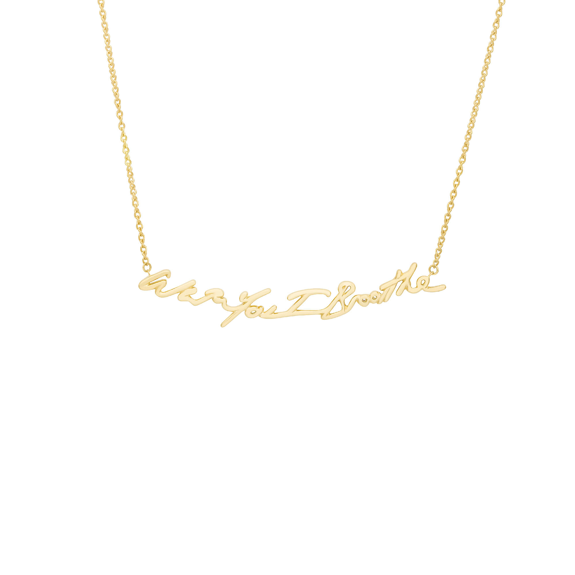 Neon Yellow Gold With You I Breathe Pendant | I Promise To Love You