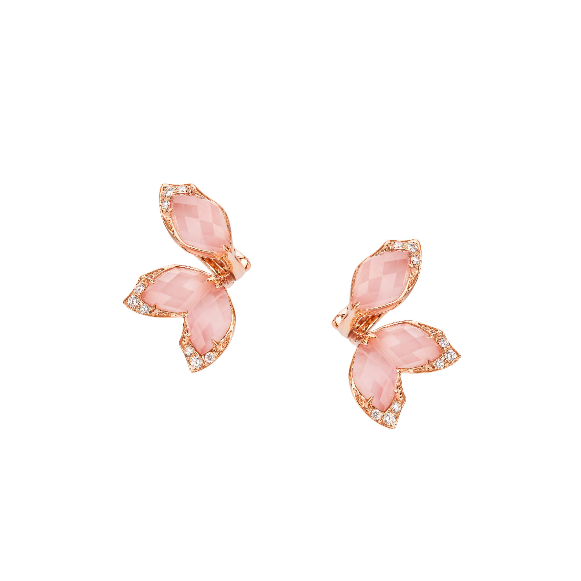 Rose Gold Earstuds | Love Me, Love Me Not