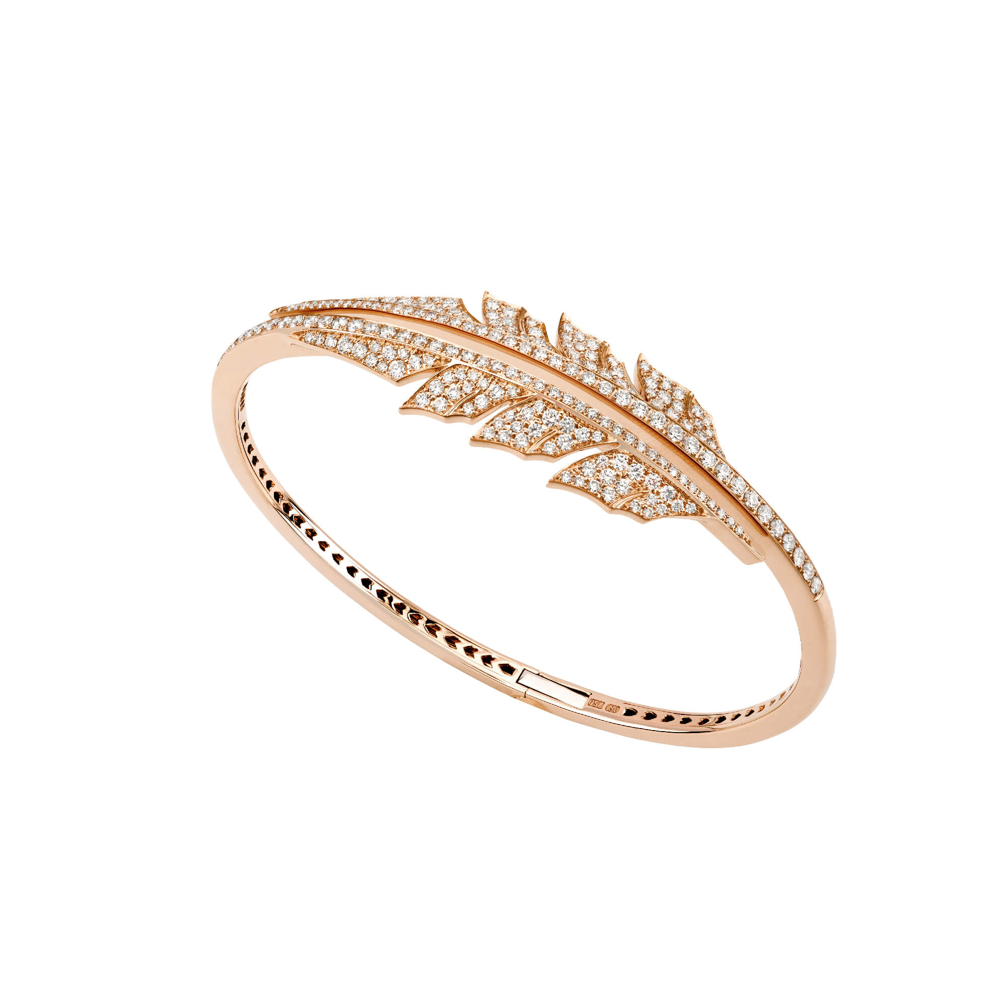 Rose Gold Open Feather Bracelet | Magnipheasant