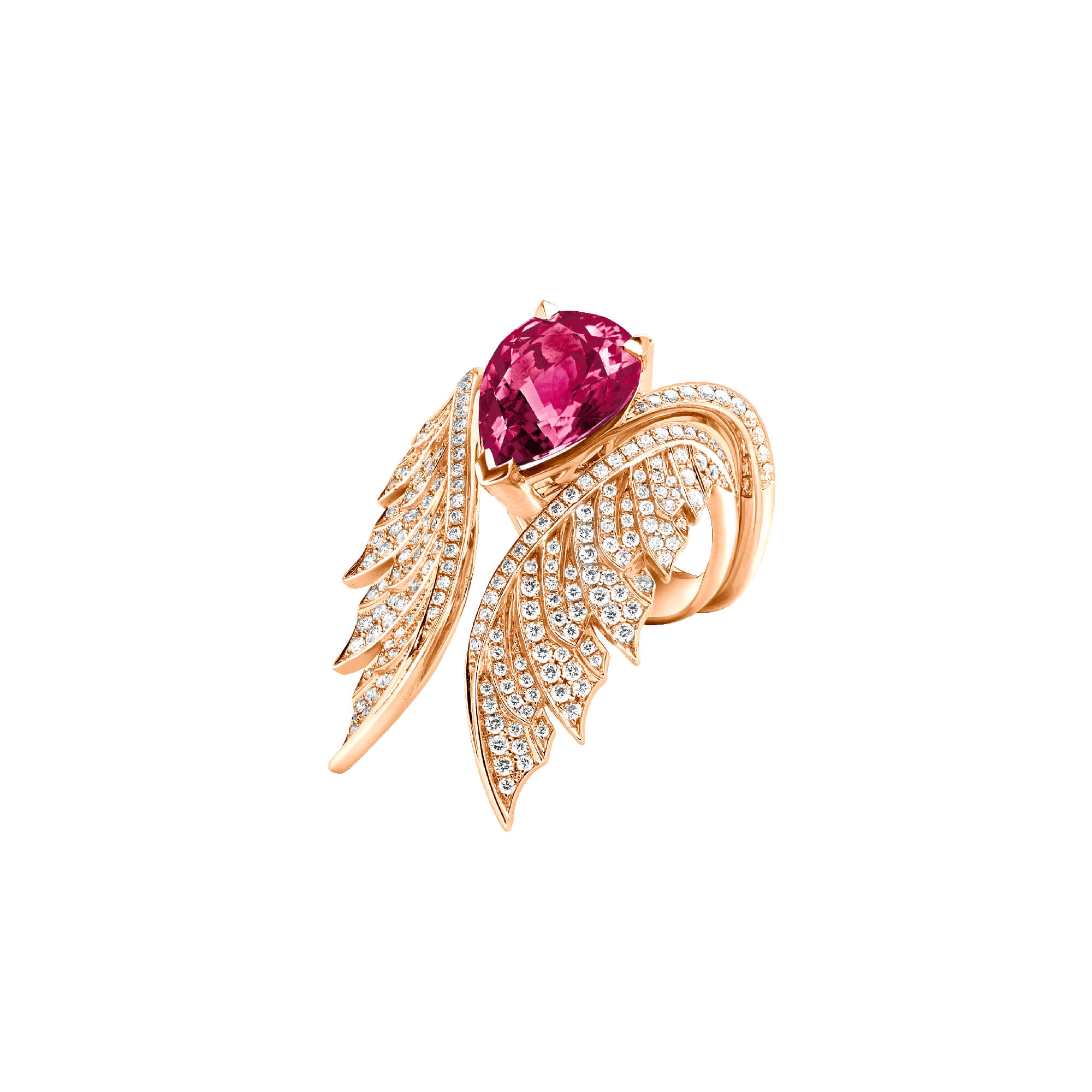 18k Rose Gold Rubellite Cocktail Ring | Magnipheasant