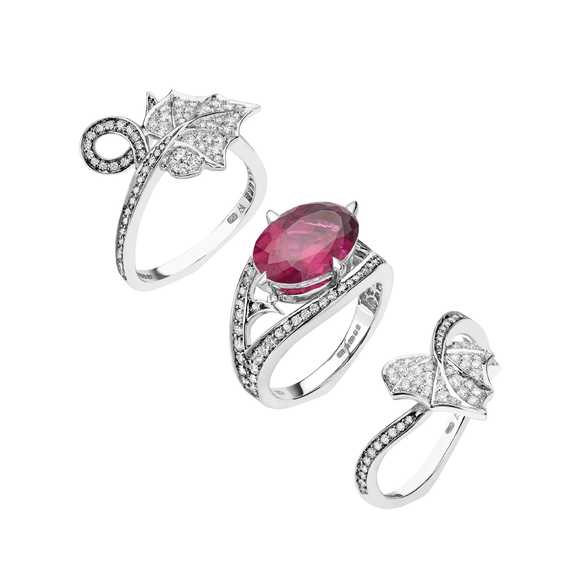 Poison Ivy Rubellite Cocktail Ring - Image 1 | No Regrets
