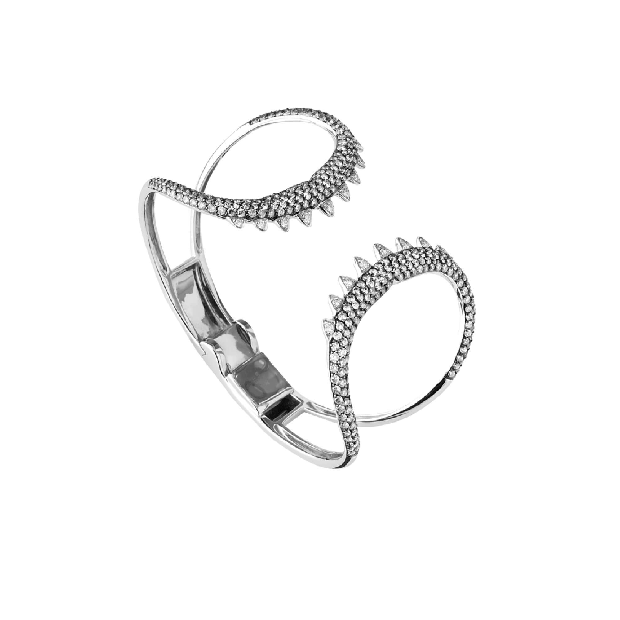 White Gold Shark Jaw Bracelet | Jewels Verne