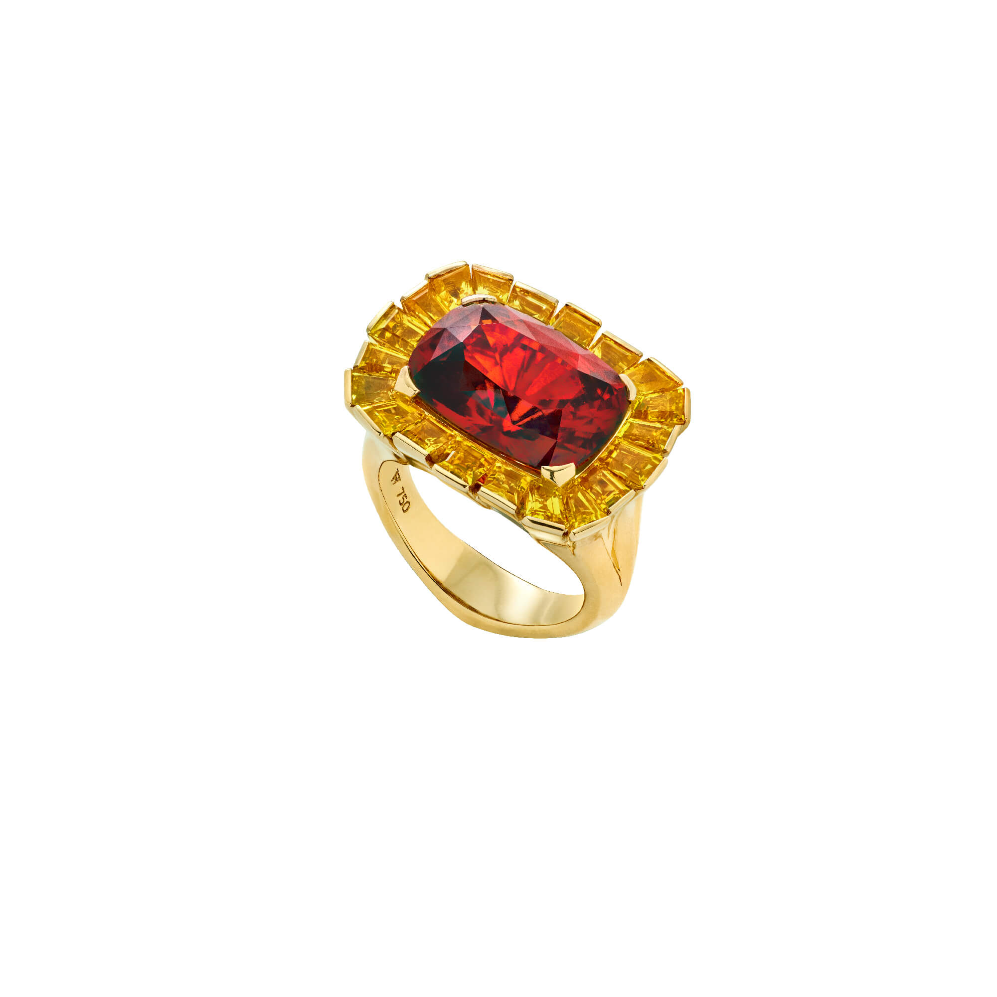 Red Skyline 18ct Yellow Gold Cocktail Ring | No Regrets