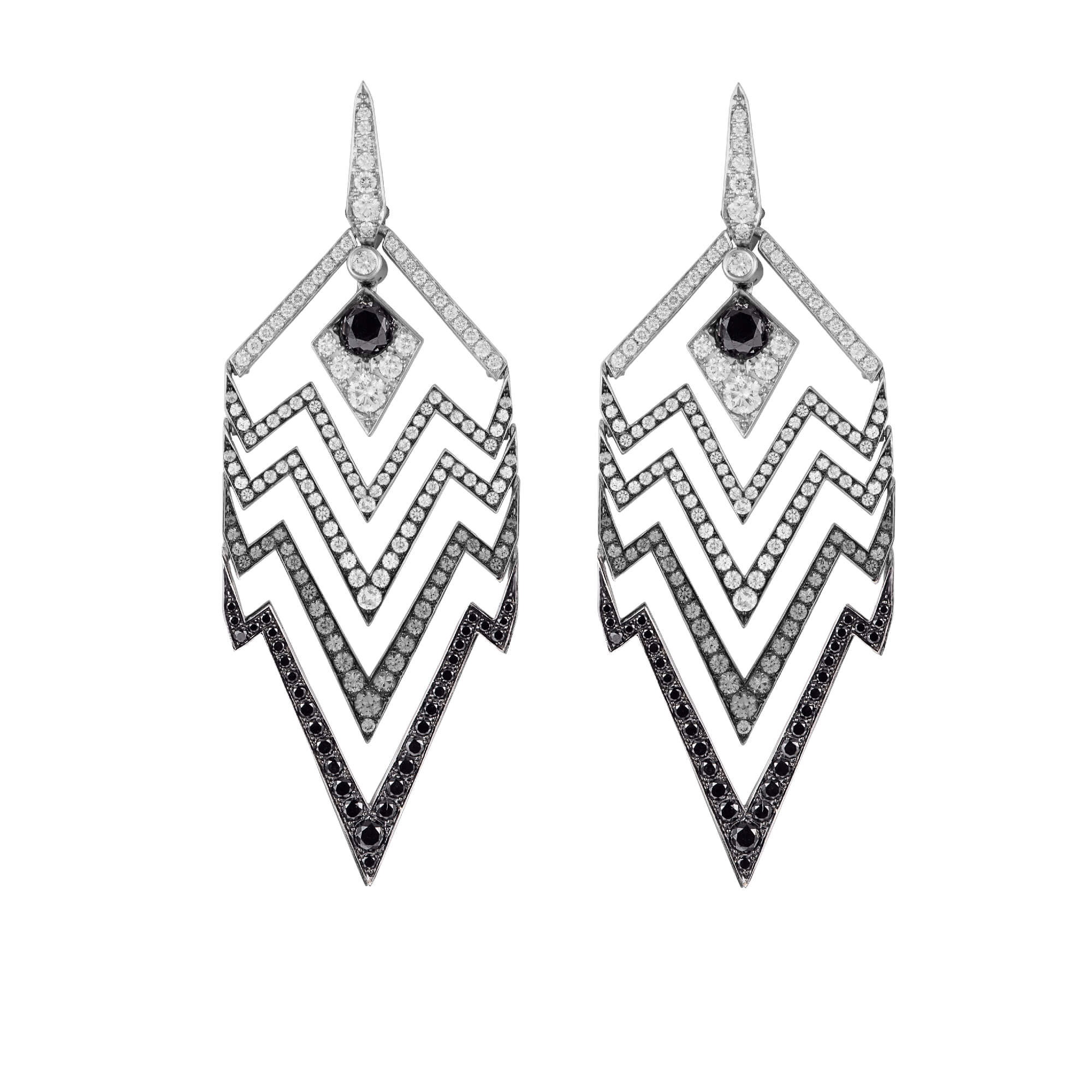 White Gold & Diamond Earrings | Lady Stardust