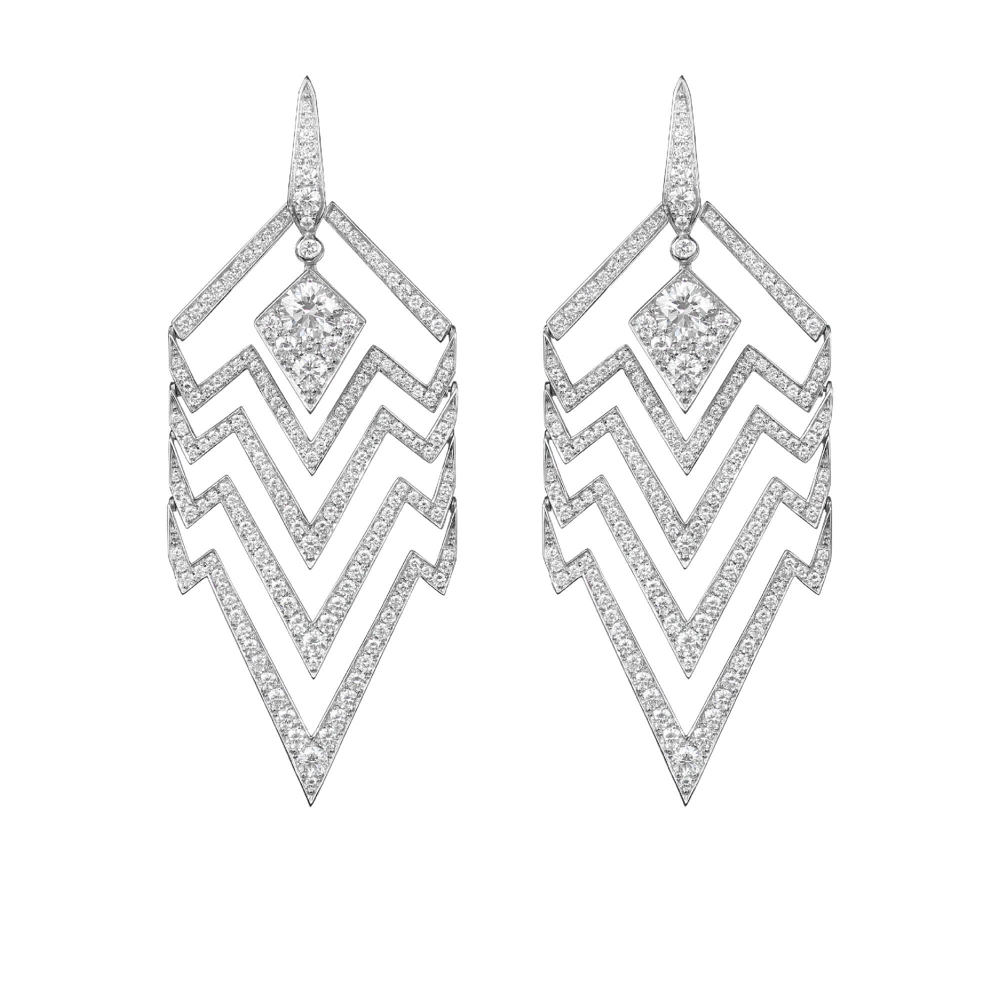 White Gold & White Diamond Earrings | Lady Stardust