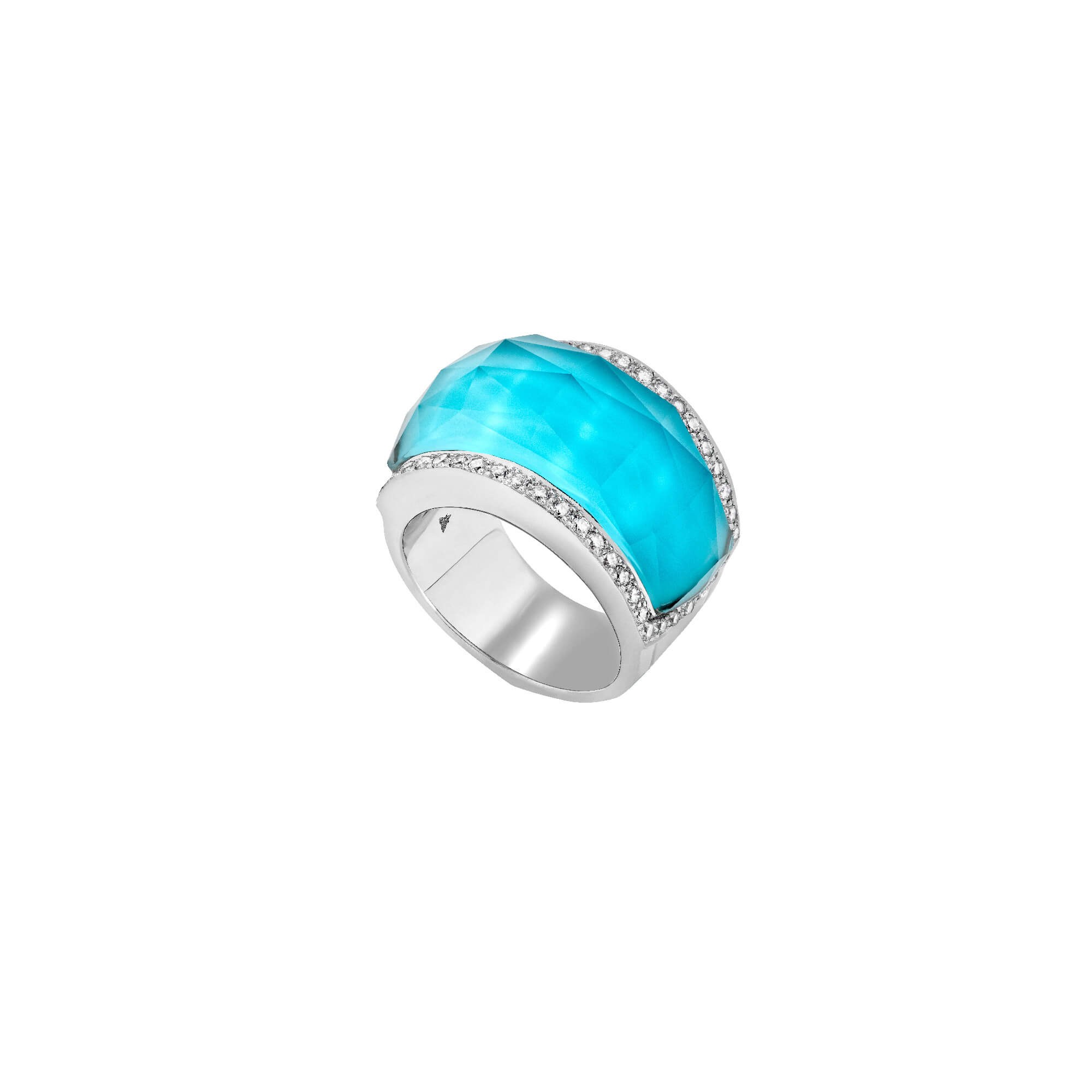 Turquoise Crystal Haze Ring | No Regrets