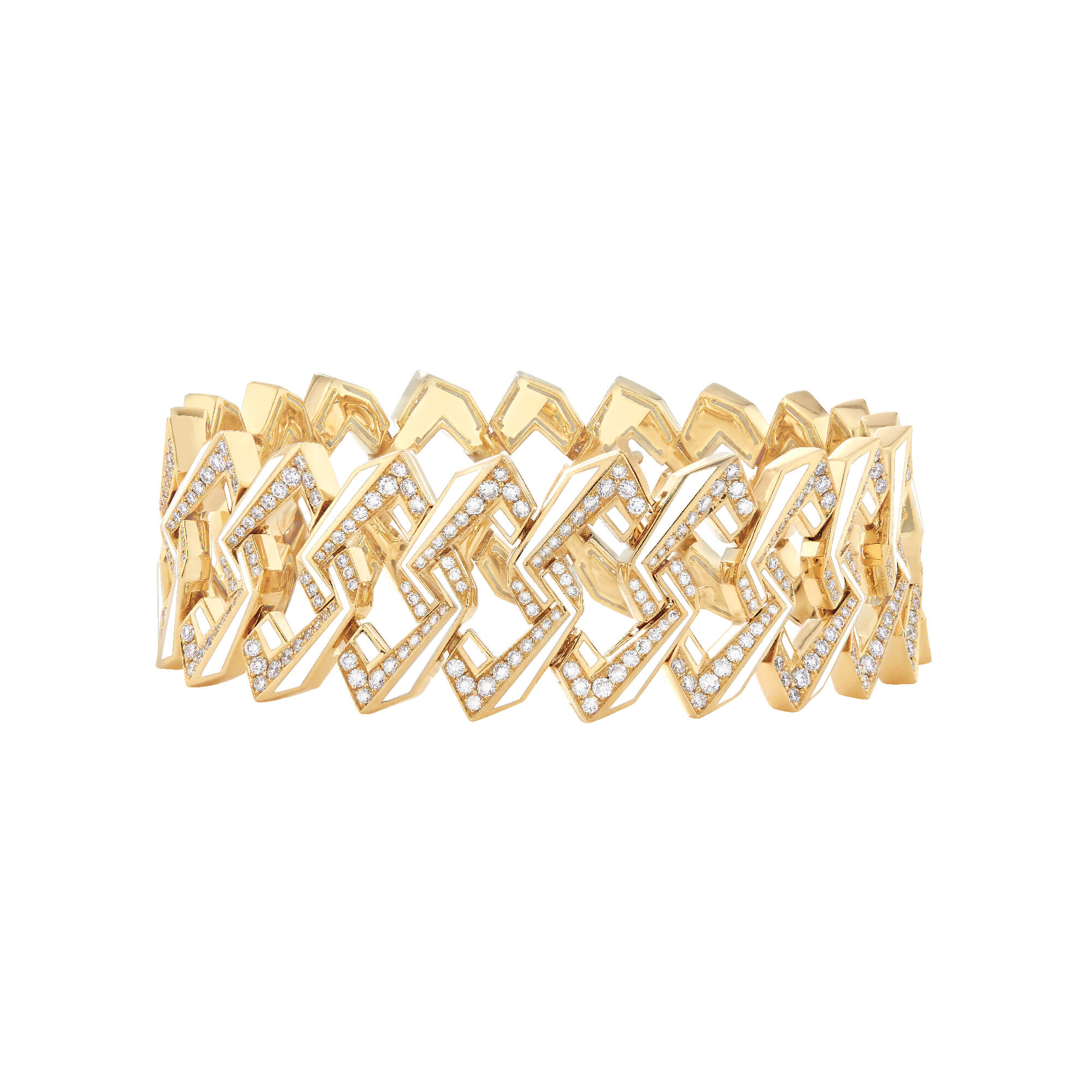 Yellow Gold and Diamond Impossible Link Bracelet | Vertigo