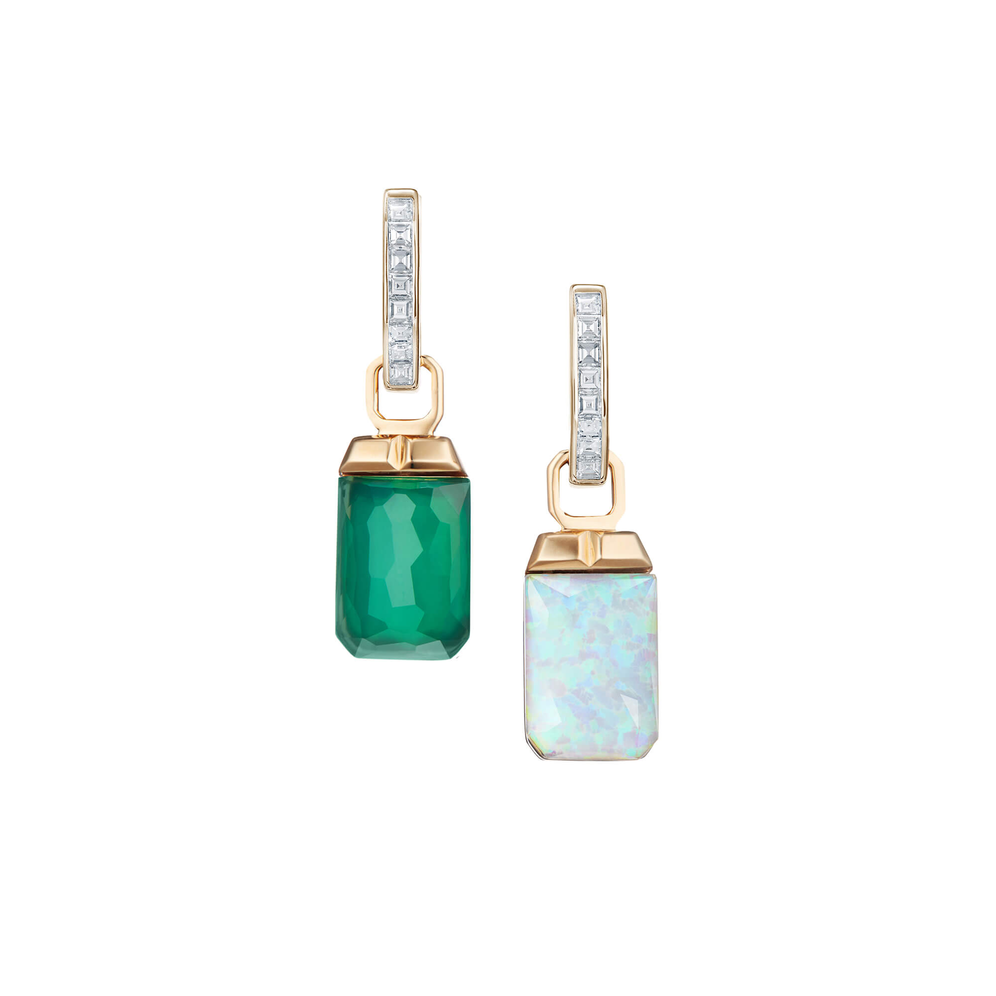 Crystal Haze and Diamonds Tablet Twister Earrings | CH₂