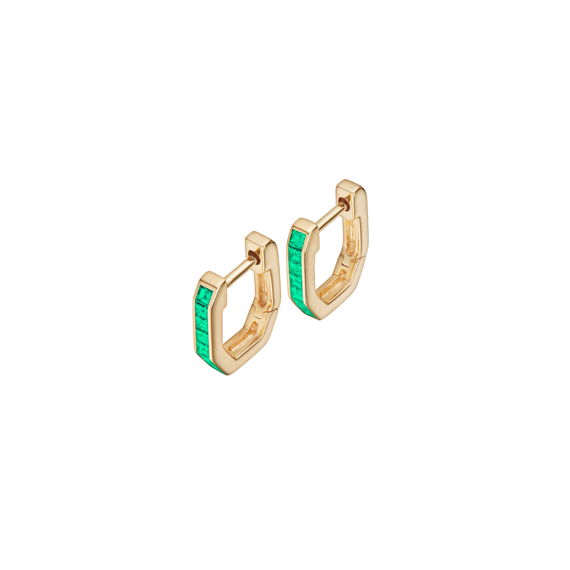 18ct Yellow Gold and Emeralds Sleepers | CH₂