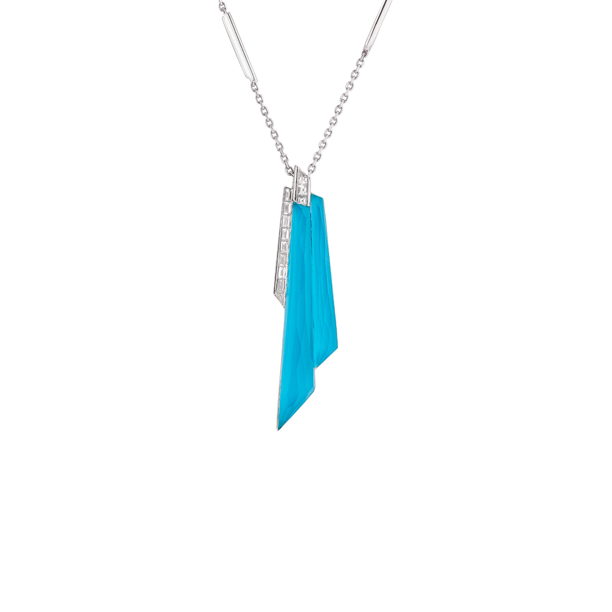 Turquoise Crystal Haze Shard Pendant | CH₂