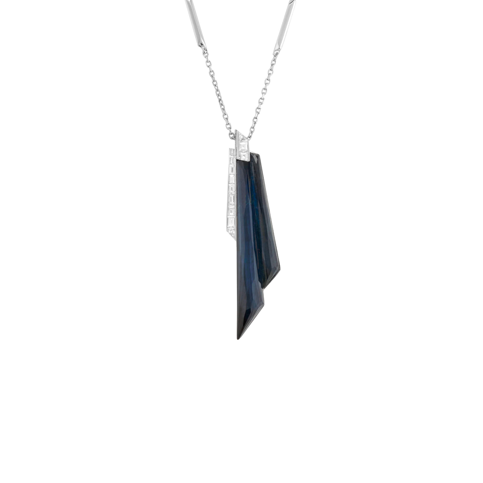 Falcon's Eye Crystal Haze Shard Pendant | CH₂
