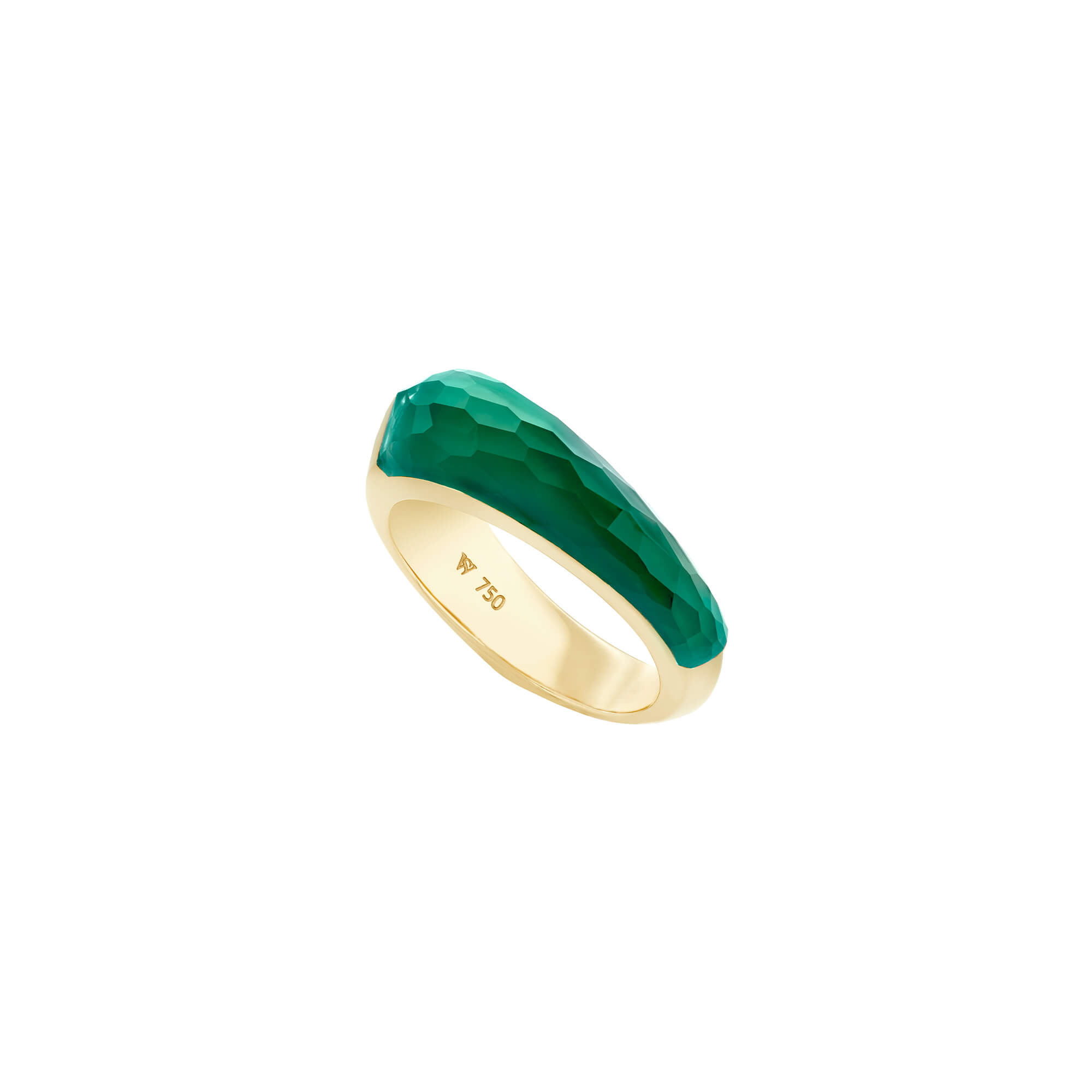 Green Agate Crystal Haze Shard Stack Ring | CH₂