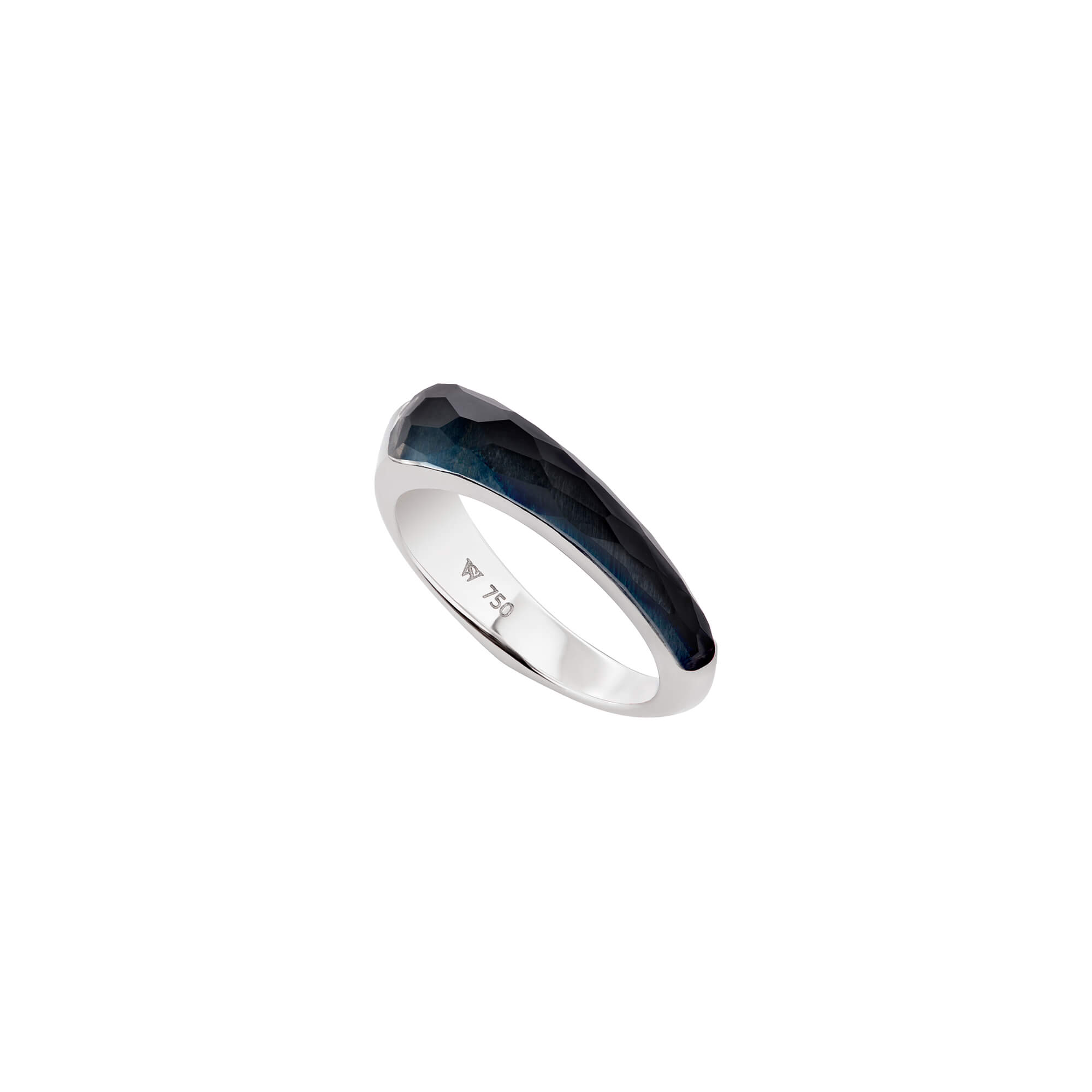 Falcon's Eye Crystal Haze Slimline Shard Stack Ring | CH₂