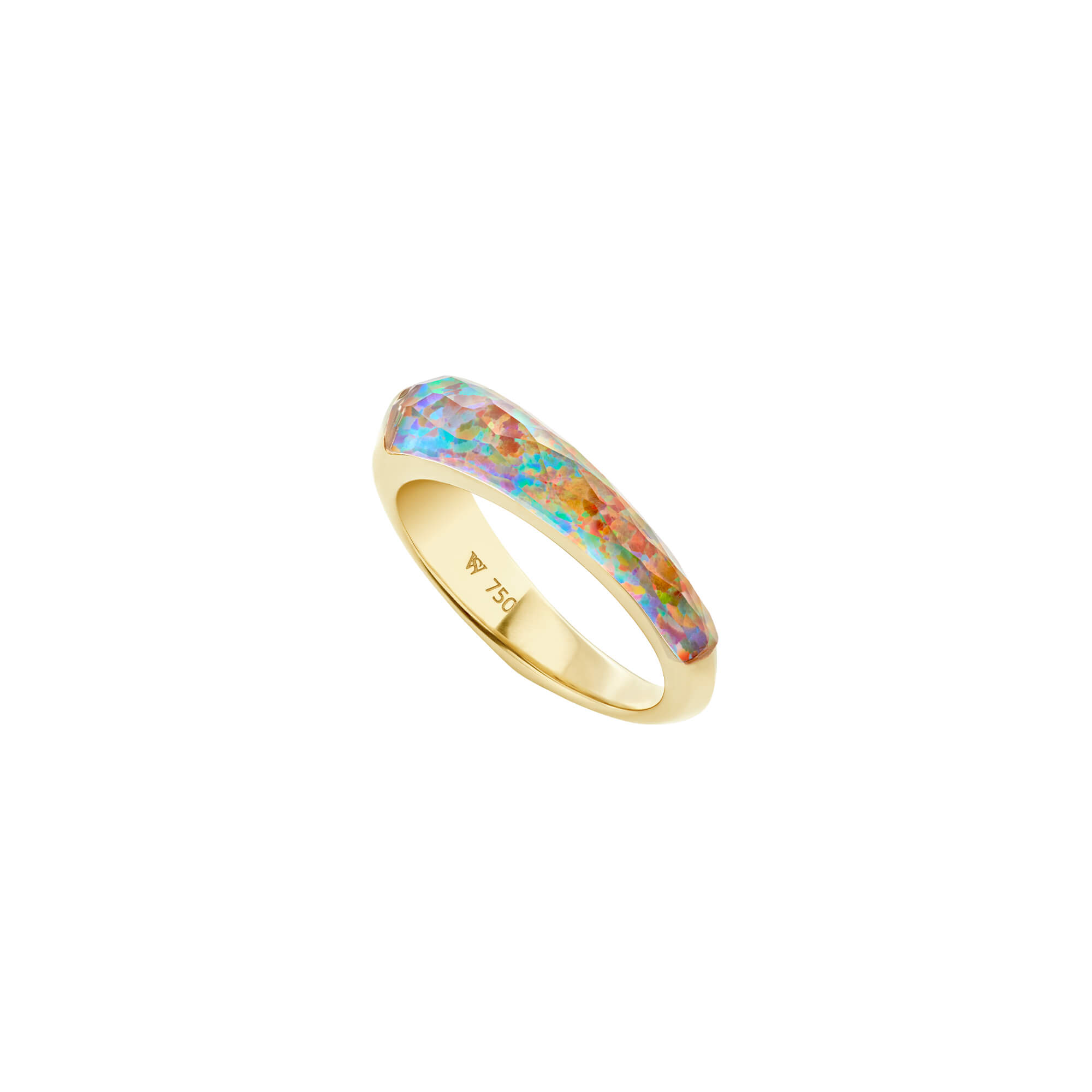 Fire Opalescent Crystal Haze Slimline Shard Stack Ring | CH₂