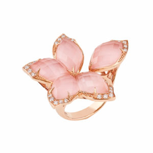 An image of a Stephen Webster Love Me Love Me Not Pink Flower Ring