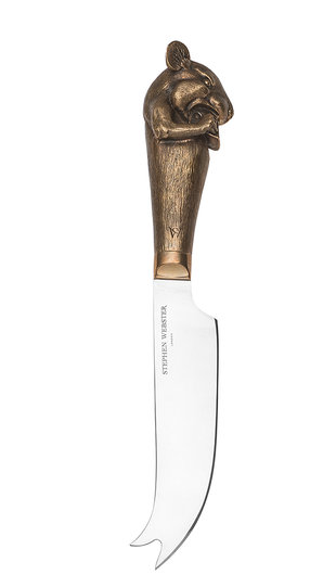 Stephen Webster's Mouse Cheese Knife with Bronze handle.
